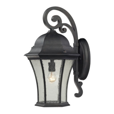Wellington Park 1-Light Outdoor Wall Sconce In Weathered Charcoal