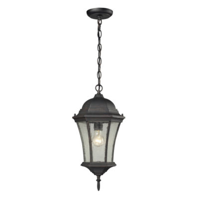 Wellington Park 1-Light Outdoor Pendant In Weathered Charcoal