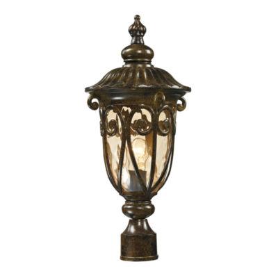 Logansport 1-Light Outdoor Post Lamp In Hazelnut Bronze