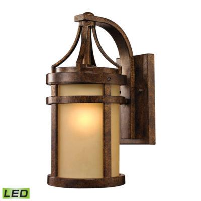 Winona 1-Light Outdoor LED Sconce In Hazelnut Bronze