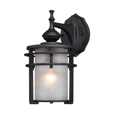 Meadowview 1-Light Outdoor Sconce In Matte Black