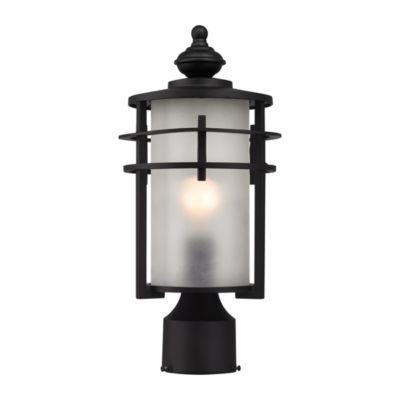 Meadowview 1-Light Outdoor Post Lantern In Matte Black