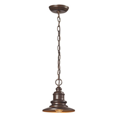Marina 1-Light Outdoor Pendent In Hazelnut Bronze