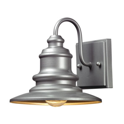 Marina 1-Light Outdoor Sconce In Matte Silver