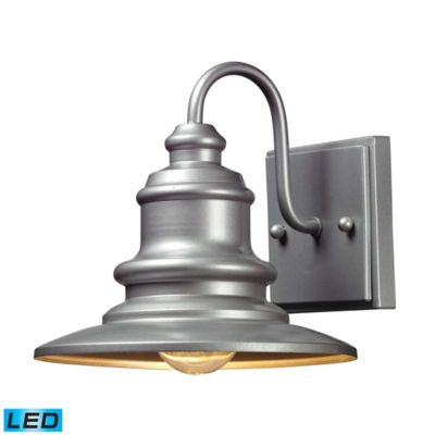 Marina 1-Light Outdoor LED Sconce In Matte Silver
