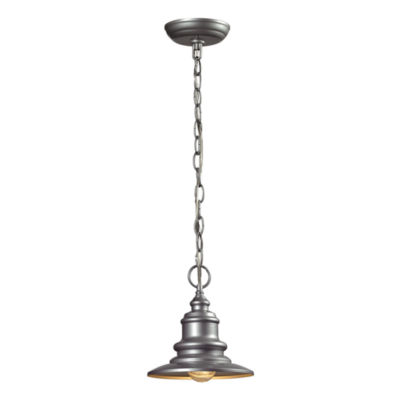 Marina 1-Light Outdoor Pendant In Matte Silver
