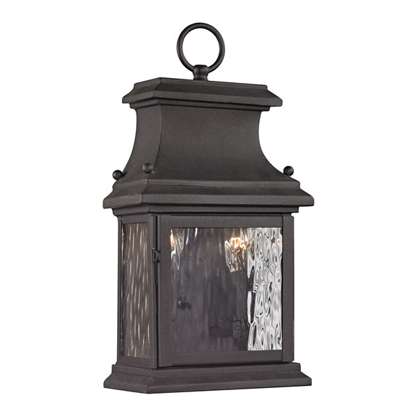 Forged Provincial 2-Light Outdoor Sconce In Charcoal