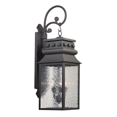 Forged Lancaster 3-Light Outdoor Sconce In Charcoal