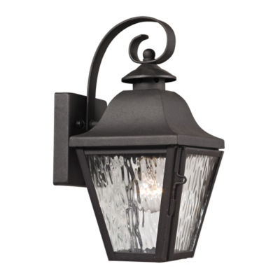 Forged Brookridge 1-Light Outdoor Sconce In Charcoal