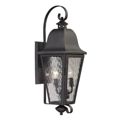 Forged Brookridge 2-Light Outdoor Sconce In Charcoal