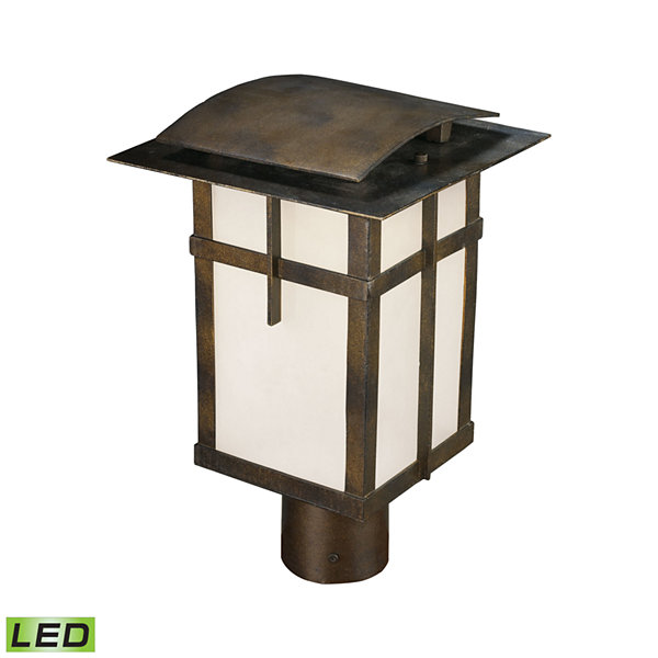 San Fernando 1-Light Outdoor LED Post Light In Hazelnut Bronze - Title 24 Compliant