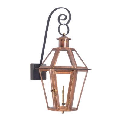 Grande Isle Outdoor Gas Wall Lantern In Aged Copper