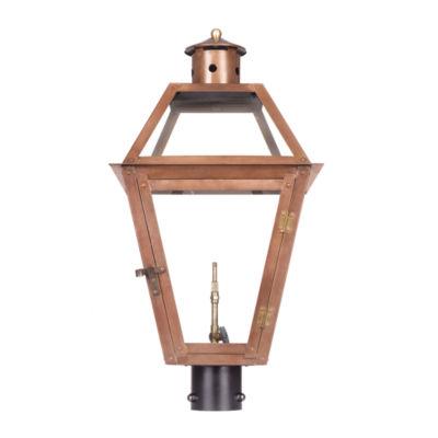 Grande Isle Outdoor Gas Post Lantern In Aged Copper