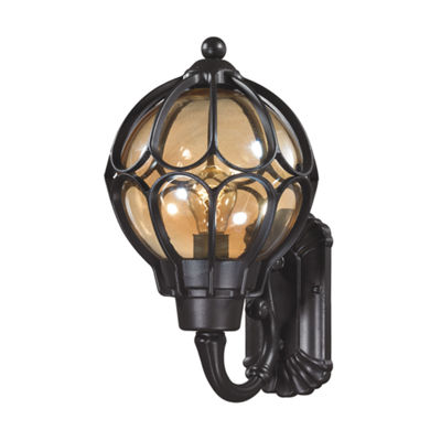 Madagascar 1-Light Outdoor Sconce In Matte Black