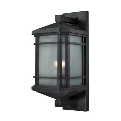 Lowell 1-Light Outdoor Sconce In Matte Black