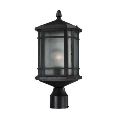 Lowell 1-Light Outdoor Post Lantern In Matte Black