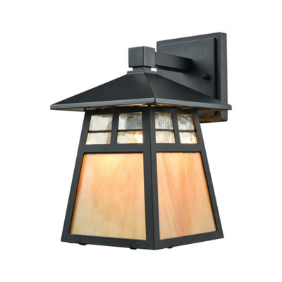 Cottage 1-Light Outdoor Wall Sconce In Matte Black