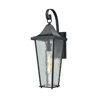 Vinton 1-Light Outdoor Wall Sconce In Matte Black