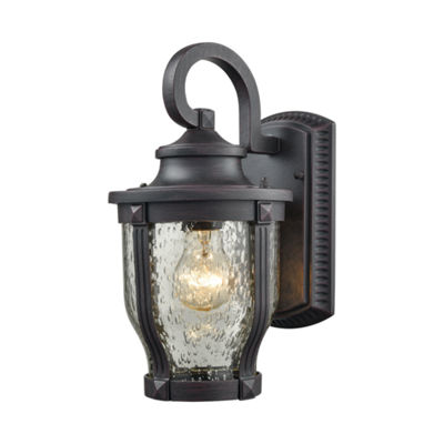 Milford 1-Light Outdoor Wall Sconce In Graphite Black