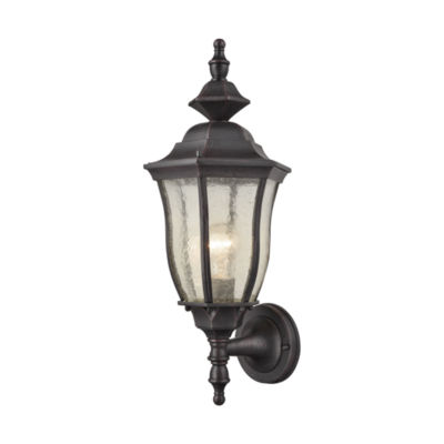 Bennet 1-Light Outdoor Wall Sconce In Graphite Black