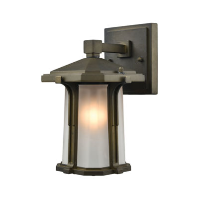 Brighton 1-Light Outdoor Wall Sconce In Smoked Bronze