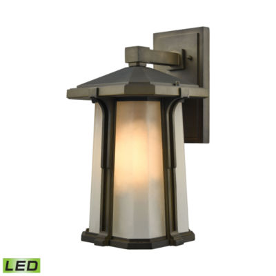 Brighton 1-Light LED Outdoor Wall Sconce In SmokedBronze