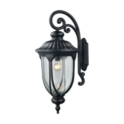 Derry Hill 1-Light Outdoor Wall Sconce In Matte Black
