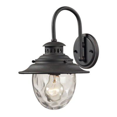 Searsport 1-Light Outdoor Sconce In Weathered Charcoal