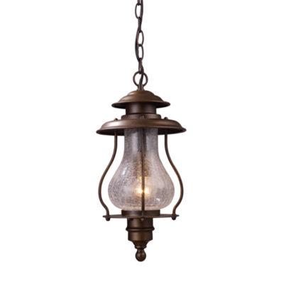 Wickshire 1-Light Outdoor Pendant In Coffee Bronze