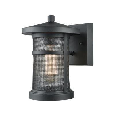 Aspen Lodge 1-Light Outdoor Wall Sconce In Textured Matte Black