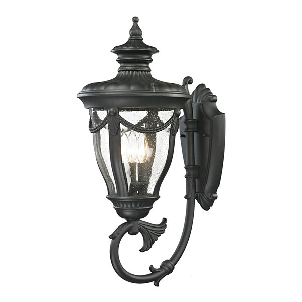 Anise 1-Light Outdoor Sconce In Textured Matte Black