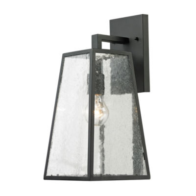 Meditterano 1-Light Outdoor Sconce In Textured Matte Black