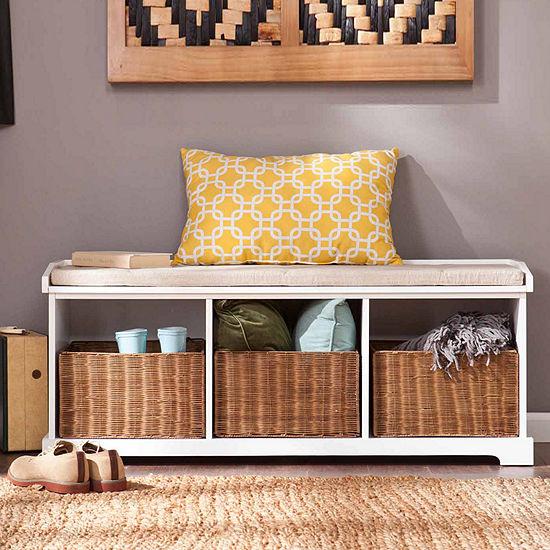 Modern Life Furniture Entryway Storage Bench