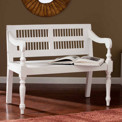 Southlake Furniture Solid Mahogany Turned-Leg Bench