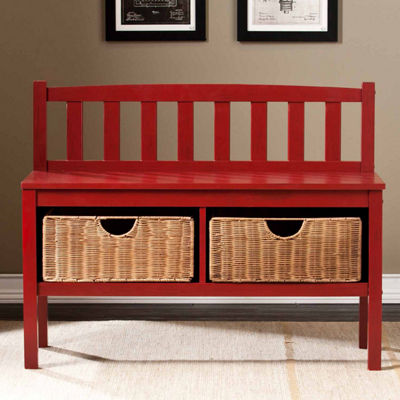 Southlake Furniture Bench with Storage Baskets
