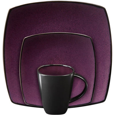 Gibson Soho Lounge Square 16-piece dinnerware set