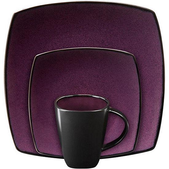 Gibson Home Soho Lounge 16-pc. Square Stoneware Dinnerware Set