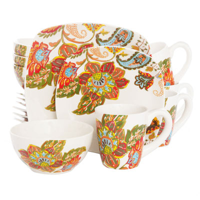 16-Piece Floral Spray Dinnerware Set