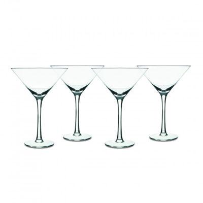 Isaac Mizrahi Western Isle 4-Piece 9oz Martini Glass