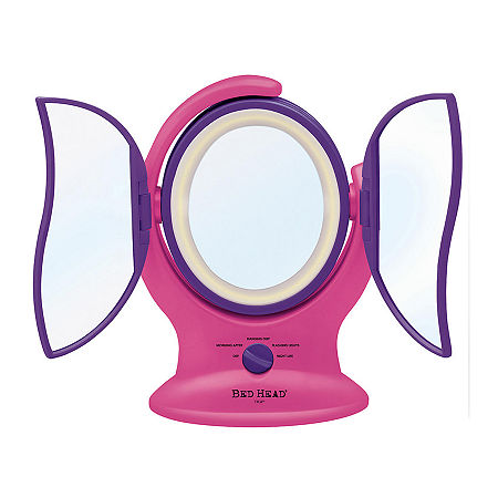 Bed Head Self Absorbed 3 Panel Lighted Mirror, One Size , Pink