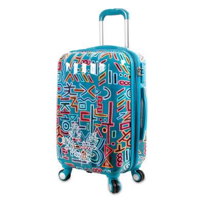 J World Art Luggage 20 Inch Hardside Lightweight Luggage