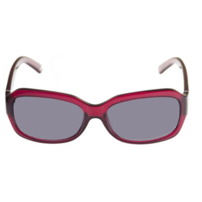 Nicole By Nicole Miller Full Frame Rectangular Sunglasses-Womens