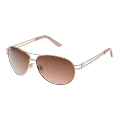 Nicole By Nicole Miller Full Frame Aviator Sunglasses-Womens