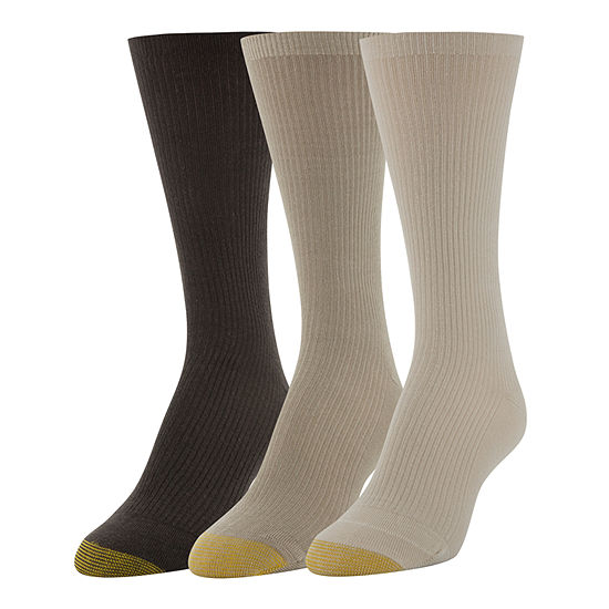Gold Toe Wellness 3 Pair Crew Socks Womens