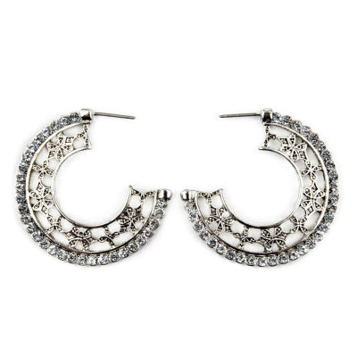 Arizona Clear Hoop Earrings