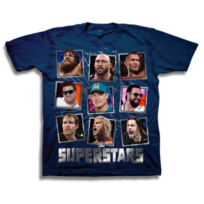 Wwe Short Sleeve Tees Boys Crew Neck Short Sleeve WWE Graphic T-Shirt-Big Kid