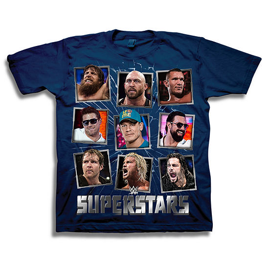 Wwe Short Sleeve Tees Big Boys Crew Neck WWE Short Sleeve Graphic T-Shirt