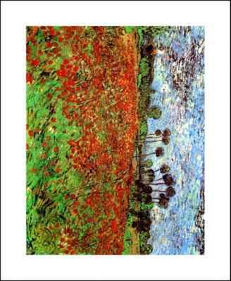 Brushstone Poppy Field Canvas Wall Art