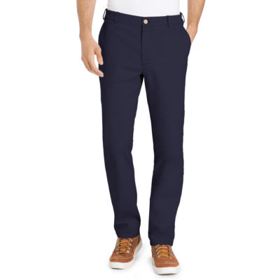 IZOD Straight Fit Flat Front Pants