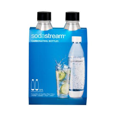 SodaStream™ 1L Slim Black Carbonating Bottle Twinpack